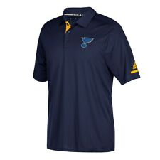 St. Louis Blues NHL Adidas Men's Center Ice Climachill Authentic Pro Polo Shirt