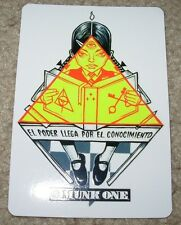 MUNK ONE Sticker KNOWLEDGE IS POWER from poster print Invisible Industries