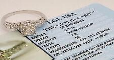 0.83 ct Vintage Platinum Round Diamond Engagement Ring EGL-USA Rtl $4,630