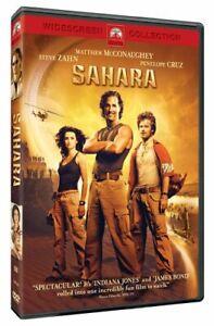 Like New WS DVD Sahara Matthew McConaughey Steve Zahn Penélope Cruz William H