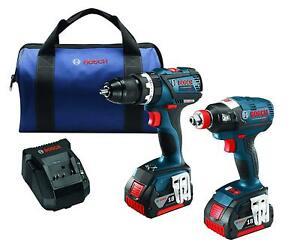 Bosch CLPK251-181 18V 2 Tool Combo Kit Drill/Socket Ready Impact