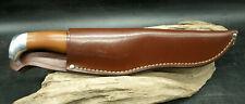 VINTAGE CUTCO 1069 HUNTING SERRATED KNIFE W/ LEATHER SHEATH FREE SHIPPING (E13)