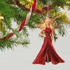 Presale Holiday Barbie 2017 Hallmark Barbie Doll Ornament 3rd Gold Star Red