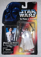 MOC 1995 Kenner Red Card STAR WARS Power Of The Force PRINCESS LEIA ORGANA.