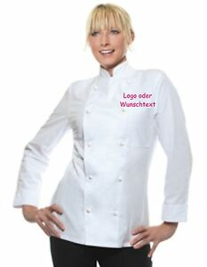 Kochjacke Damen bestickt, Bäckerjacke Damen bestickt,Berufsmoden