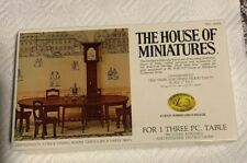 New ListingThe House of Miniatures Dollhouse Furniture Hepplewhite 3 pc. Dining Room Table