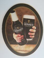 Beer Brewery Coaster ~*~ Guinness Draught Stout ~*~ BELIEVE ~ Dublin, Ireland
