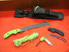 Ka-Bar Zombie Pestilence Chopper Knife, w/Skeleton Knife, Polyester Sheath #5702