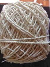 1.5mm-2mm Natural Cream Cotton Rope - macrame/pot hanger/loom/weave/boho/wallart