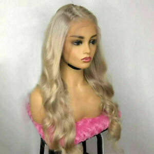 Luxury Lace Front Remy Light Dirty Blonde Full Lace Human Hair Wig Glueless Wavy