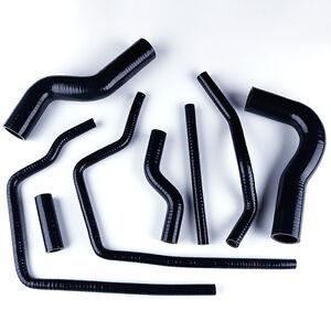 For SUBARU Impreza GC8 GF8 STI EJ20 WRX 96-00 Silicone Radiator Hose Kits Black