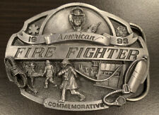 Arroyo Grande Belt Buckle American Fire Fighter 1993 Commemorative Limited