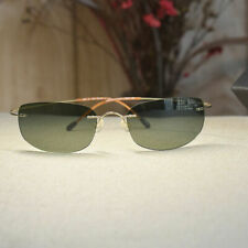 Titanium Aviator G15 green polarized sunglasses men's silver glasses green lens