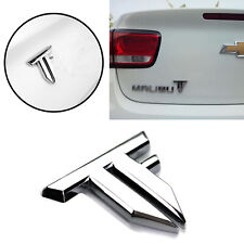 1x 3D Letter TF Transformers Metal Car Badge Emblem Sticker Silver Decal