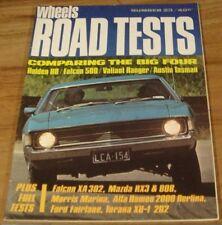 1972.WHEELS Road Tests No.23.XA Falcon FAIRLANE.LJ Torana XU-1.MAZDA RX3.VW.ALFA