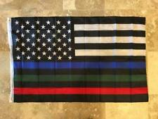Usa Official Service Supporter Flag Police Military Fire 3X5 American Flag Nylon