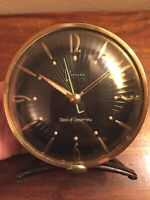 WESTCLOX Clock of Tomorrow Alarm Clock BLACK FACE 1950s MCM RETRO - RARE!