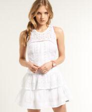 New Womens Superdry Odessa Dress Optic White