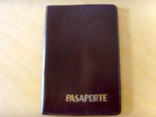 Used - PORTA DOCUMENTO PASAPORTE de piel marron - Leather Passport Cover - Usada