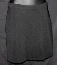 Guess Skirt Above Knee Mini Straight Slim Black Pencil Logo Slit Short Classic S