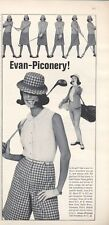 1965 Evan-Piconery! Vintage Womens Golf Clothes PRINT AD