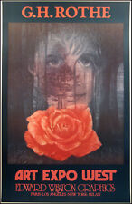 G.H.Rothe Gallery Art Poster ROSE Artwork  Expo West Unsigned SUBMIT AN OFFER