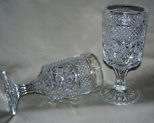 Wexford Pattern Stemmed Goblet from Anchor Hocking / Set of Two / 9 Oz (0.26L)