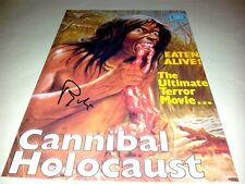 """Cannibal Holocaust PP Signed 12""""x8"""" Poster Ruggero Deodato"""