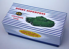 DINKY Reproduction Box 651 Centurion Tank