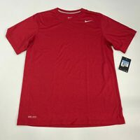 NWT Nike Dri-Fit Training Shirt Mens Medium Short Sleeve Red Crew Neck Polyester