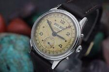 Vintage ELBON Automatic Triple Date Calendar Stainless Steel Men's Watch
