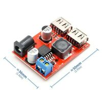 Power Supply LM2596S Dual USB Charger DC 9-36V to 5V 3A Step Down Converter -UK