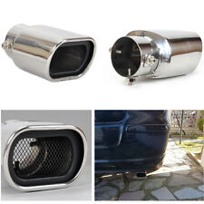 TAIL PIPE Clamp-on Car Exhaust Pipe Muffler Tip Stainless Steel Mesh Grill Cover