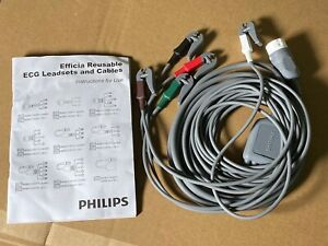 Philips AAMI ECG 5 Lead Grabber Cable 2.5M For Efficia Monitor 8633XX 866199