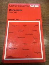 """1960s Old Vintage OS Ordnance Survey 1"""" Map Sheet 103 Doncaster"""