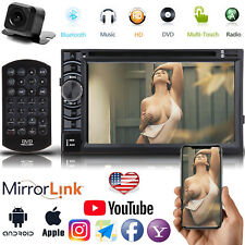 """Double 2Din 6.2"""" Car Stereo CD DVD MP3 Player Radio Bluetooth + Backup Camera US"""