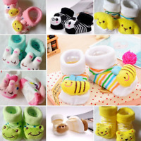 Anti-slip Socks Cartoon Newborn Slipper Shoes Boots Baby Girl Boy 0-1 years