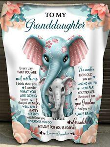 Gift for granddaughter, I Love For You Is Forever Granddaughter Gift Blanket