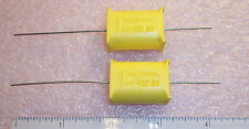 QTY (10) 1uf 400V MOLDED AXIAL METALLIZED POLYETHYLENE PETP CAPACITORS MKT341