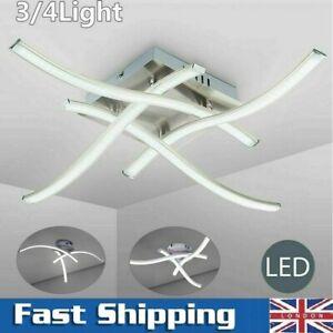 Modern LED Ceiling Light 3/4 Lights Kitchen Living Room Bedroom Pendant Lamp