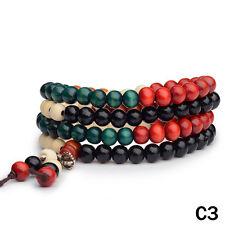 Sandalwood Buddhist Meditation 6mm 108 Prayer Bead Mala Bracelet Necklace Aus J3