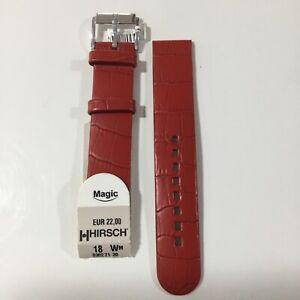 Correa Reloj Hirsch Piel Rojo 18 mm