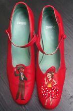 Camper Twins Flamenco 41 TWS Vintage Pumps Mary Jane rot Salsa Tango US 10 Leder