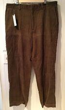 Van Heusen Corduroy Pants 36x32 Brown NWT Flat Front