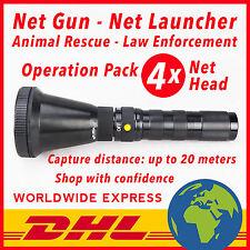 NET GUN - 1 SHOOTER - 4 NET HEAD - 30 PCS CO2 CARTRIDGES - ANIMAL CATCHER