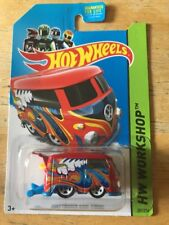 Volkswagen VW Hot Wheels Type 2 Bus Kool Kombi Workshop Red Blue 2013 201/250