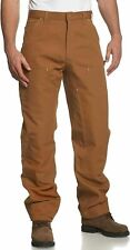 Carhartt Men's Firm Duck Double-Front Work Dungaree Pant B01 Brown Loose Fit