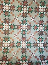 Christmas Stars Bed Quilt