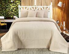 Handmade Cotton Quilted Bedspread Set Quilt Bed Set Harvard Beige