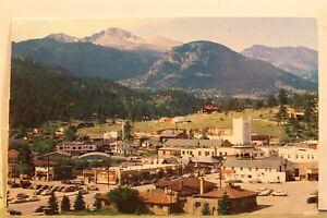 Colorado CO Estes Park Longs Peak Rocky Mountain Park Postcard Old Vintage Card